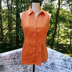Banana Republic Sleeveless Orange Size Small Blou6